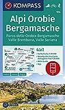 Carta escursionistica n. 104. Alpi Orobie bergamasche. Parco delle Orobie bergamasche, val...