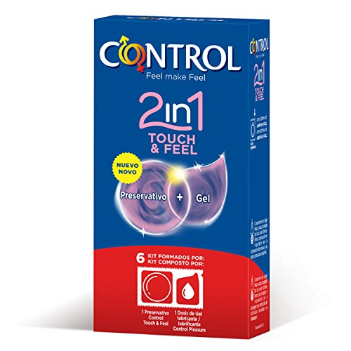 Control Touch & Feel 2en1 Preservativos Gel - 1 Paquete