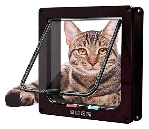 Aletas de gato Puerta de mascota Transparente Aprecio a prueba de viento Puerta de vidrio deslizante Puerta de vidrio y ventana Dog Cat Flip Puerta Cat Flap Microchip Gato grande Flap Cat Mate Cat Spl