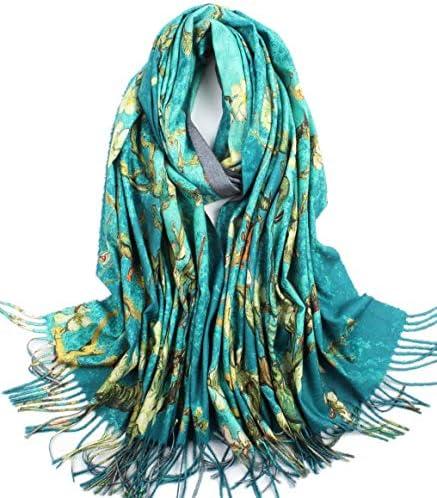 Soft CashmereB07YHLCK57 Feel Scarf For Women Elegant Large Winter Warm Scarves Shawl Wrap Monet product image