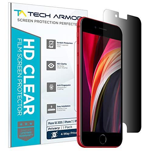 Tech Armor - Displayschutz für Apple iPhone SE 2020 / iPhone 7 / iPhone 8 (4.7 inch) - 4-Wege 360° Blickschutz - 1 Stück