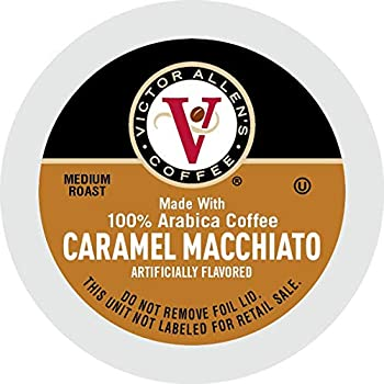 Victor Allen Coffee Caramel Macchiato Single Serve K-cup 80 Count  Compatible with 2.0 Keurig Brewers