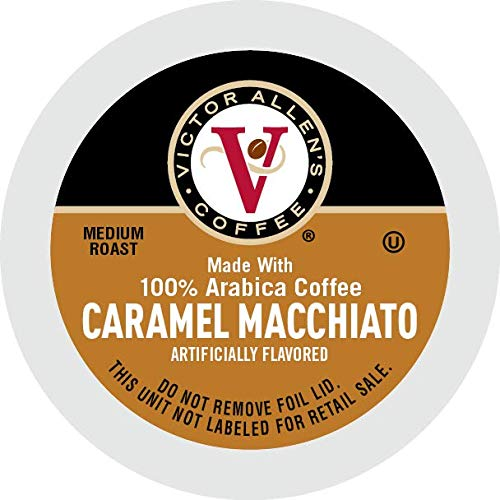 Victor Allen Coffee, Caramel Macchiato Single Serve K-cup, 80 Count (Compatible with 2.0 Keurig Brewers)