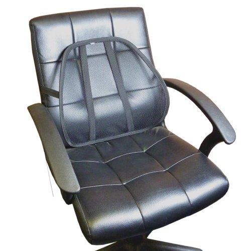 Mesh Lumbar rugsteun - Zeer stevig en flexibel - Past op vrijwel alle stoelen, bureaustoelen, auto/bestelstoelen