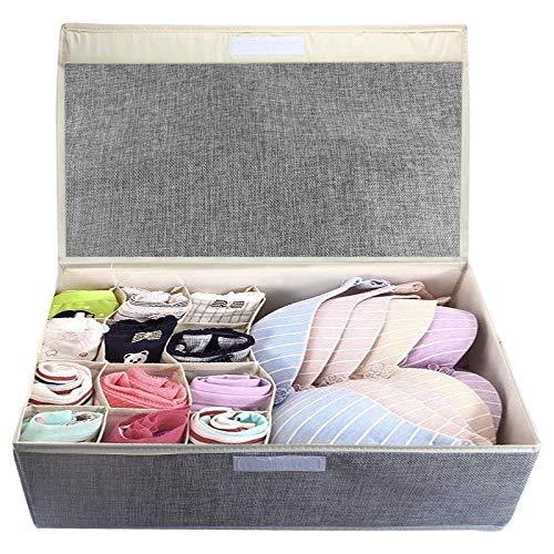 Tomedeks organizer cassetti, Pieghevole per cassetti scatole per armadio, Organizzator per Intima, Reggiseni, Calze