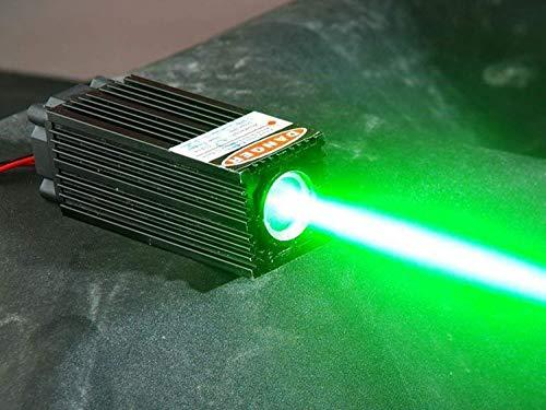 Fat Beam 60mW 532nm verde láser Diodo Módulo W/TTL