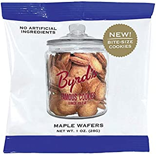 Byrd's Famous Cookies Convenient 24 Pc. Carton of 1 0z. Portion Packs From Savannah's Iconic Cookie Bakery - (24 Pack Maple Wafers)