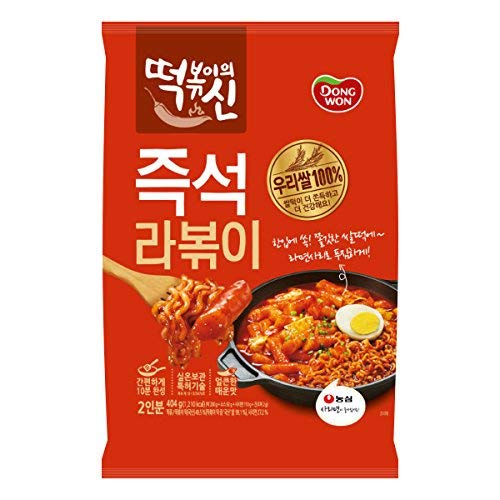 [Dongwon] [God of tteokbokki] Ramen tteokbokki (stir-fried rice cake) / Korean food / Korean tteokbokki / Instant cooking food / Asian dishes (overseas direct shipment)