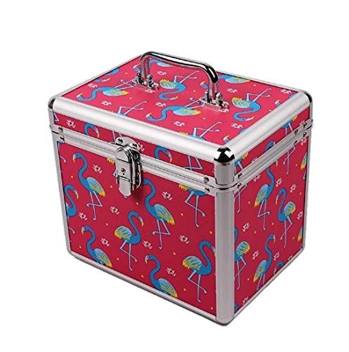 ピクニック飲食店野心化粧品ケース、ポータブル二重層ロックフットバス技術者ポータブルツールボックス、ポータブル旅行化粧品ケース、美容ネイルジュエリー収納ボックス (Design : 1#)