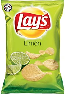 Lay's Limon 2 Pack of 2.75oz Bags Fresh Lemon Lime Flavor Tangy and Delicious!