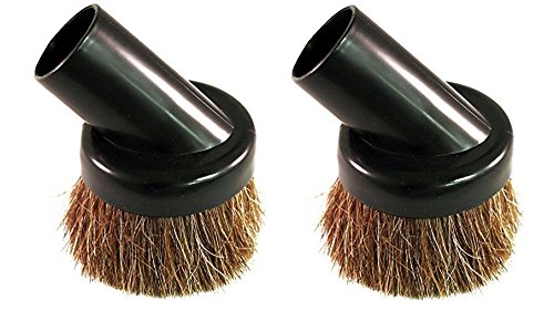 """2 Deluxe Universal Replacement Dusting Dust Brushes Black 1 1/4"""" Natural Bristle"""
