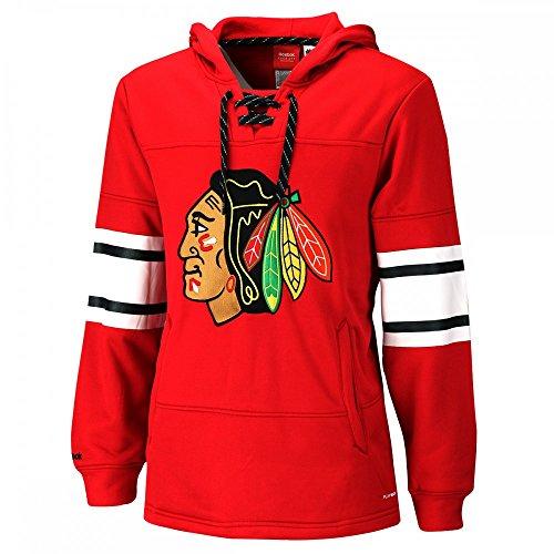 Reebok CCM NHL CHICAGO BLACKHAWKS Faceoff Jersey Pullover, Größe:M