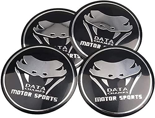 4 Piezas Tapacubos, para Ford Mustang, Impermeable Antióxido Decoración Accesorios Tapas Centro Rueda, Modificadas Hub Caps con Emblema, 56mm