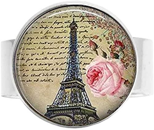 Love Paris Ring Eiffelturm Vintage Romantische Kunst Foto Schmuck