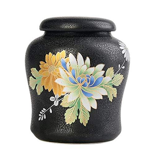 UNU_YAN Modern Simplicity - Tarro de almacenamiento de té de cerámica estilo japonés para uso doméstico y cocina