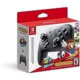 Nintendo Switch Pro Controller con Super Mario Odyssey código de descarga del juego completo