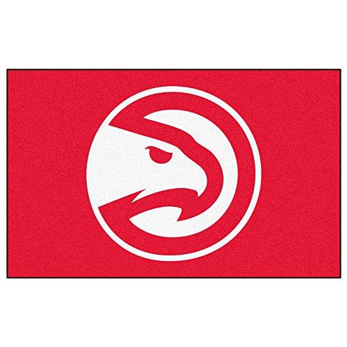 FANMATS NBA Atlanta Hawks Nylon Face Ultimat Teppich