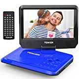 TENKER 9.5' Portable DVD Player with Swivel Screen, Rechargeable Battery and SD Card Slot & USB...