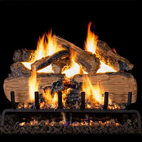 Buy Peterson Real Fyre 36-Inch Charred Split Oak Gas Log Set with Vented Propane ANSI Certified G31 ...