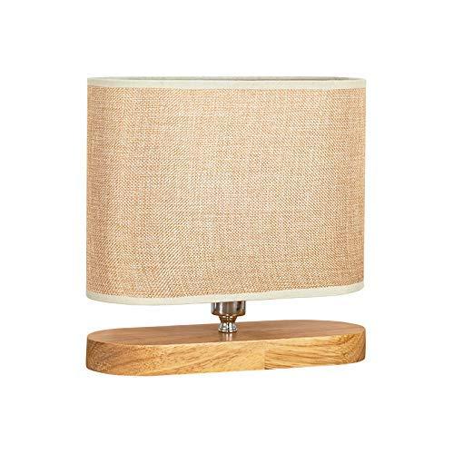 Iyom Mini lámpara de Mesa para Dormitorio con Pantalla de Tela, lámpara de Escritorio Rectangular Regulable de 9,4 Pulgadas E27 / E26 con Enchufe, iluminación Interior para Sala de Estar, cafetería