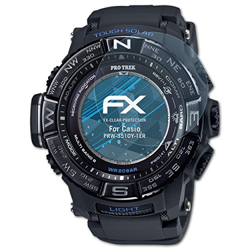 atFoliX Protezione Pellicola dello Schermo compatibile con Casio PRW-3510Y-1ER Pellicola Protettiva, ultra-trasparente FX Proteggi Schermo (3X)