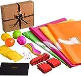 Conjunto de día deportivo - Juego completo de juegos, incluye carrera de sacos, huevo y cuchara, carrera de 3 patas, carrera de bolsas de frijoles, lanzamiento de bolsitas de frijoles - Jaques de Lond
