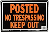 Hy-Ko Aluminum Sign,No Trespassing Property Sign (Pack of 12)