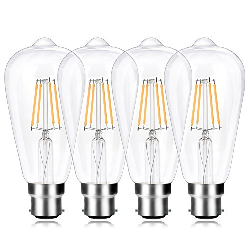 LOW CONSUMPTION: Cut down 80% on your energy bills immediately! Replace 40W Incandescent Bulb by 4W LED Filament Bulb. WIDE APPLICATIONS: Perfect for restaurants, bars, hotels, karaoke, cafes, windows and showrooms to create warm and intimate lightin...