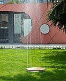 WaWoSa Gartendusche GaRai rund Highline Deluxe, Bodendusche mit Wasserfontäne 2-4 Meter, Stellrad, 70 cm, DuSe25r