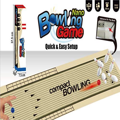 Comie Tischbowling, Tisch Bowling Set Desktop Spielzeug Kinder Kunststoff Bowlingspiel Bowlingkugel Lernspielzeug Tischbowling Kinderbowling Equipment für Ganze Familie Kompaktes Spiel Auch