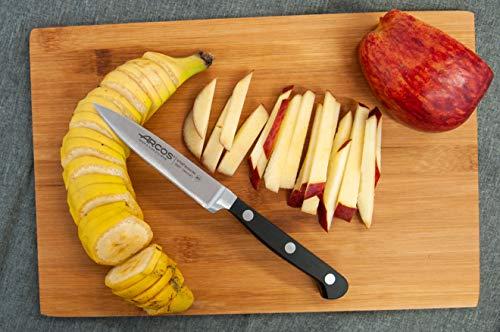 Arcos Serie Clasica, Cuchillo Mondador, Hoja de Acero Inoxidable Forjado Nitrum 100 mm, Mango de Polioximetileno, POM…