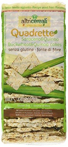 Probios, Quadrette al Grano Saraceno e Quinoa - 3 pezzi da 130 g [390 g], Senza glutine