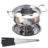 Xigeapg 10-Piece Set Multifunctional Stainless Steel Ice Cream Chocolate Cheese Hot Pot Melting Pot...