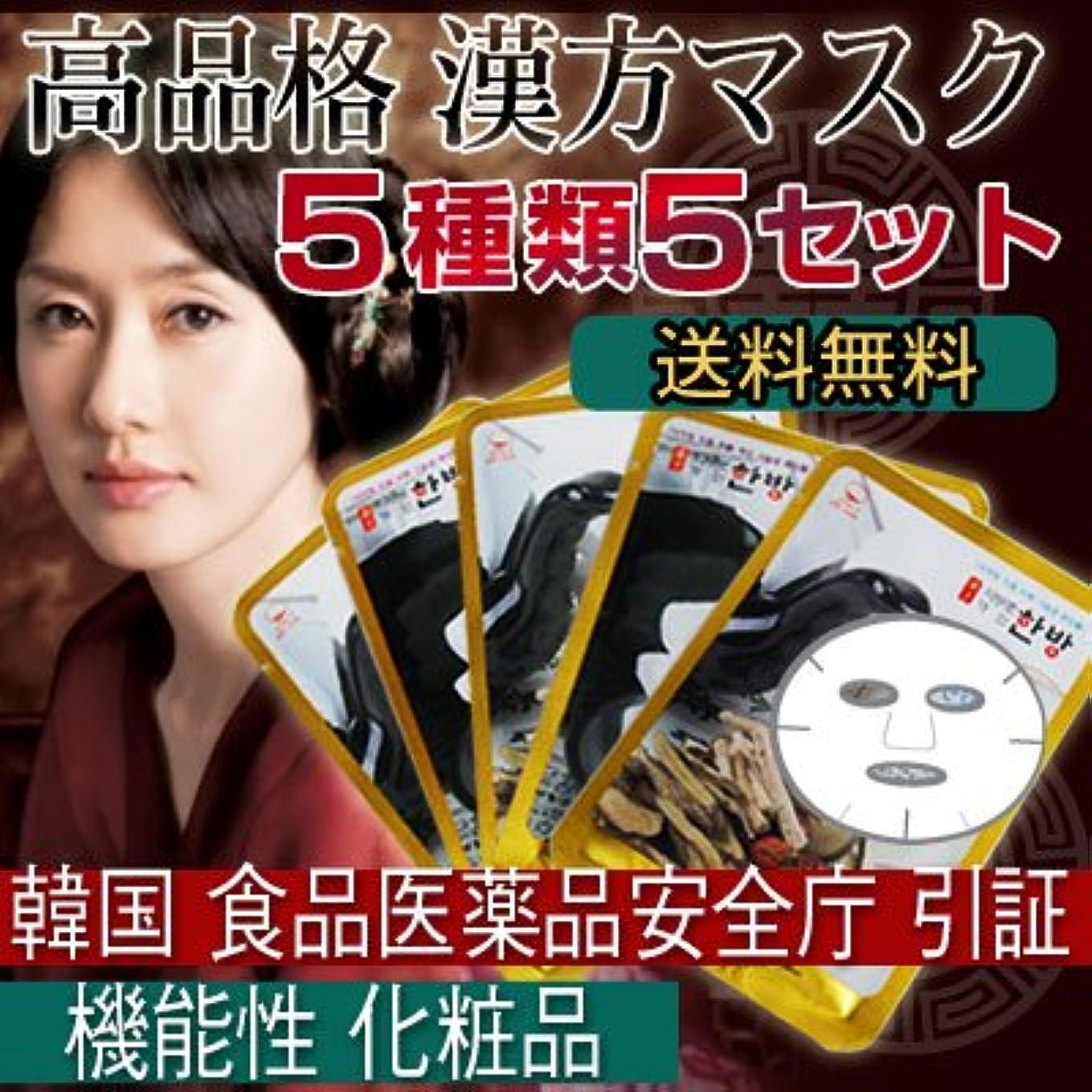 量約悪質な漢方シートマスクパック 5種類5セット