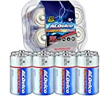 ACDelco 8-Count D Batteries, Maximum Power Super Alkaline Battery, 10-Year Shelf Life, Recloseable Packaging