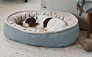 Orvis Comfortfill Wraparound Dog Bed with Fleece/Large Dogs 60-90 Lbs, Teal,