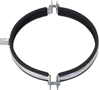 Abrazadera de tubo de 200 mm de diámetro, junta de goma, soporte para tubo de ventilador