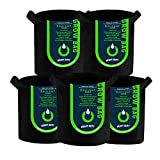 OPULENT SYSTEMS 5-Pack 5 Gallon Grow Bags Heavy Duty Aeration...