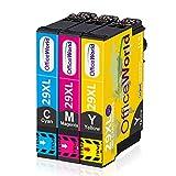 OfficeWorld 29 29 XL Cartuchos de Tinta para Epson 29XL Compatible con Epson Expression Home XP-245...