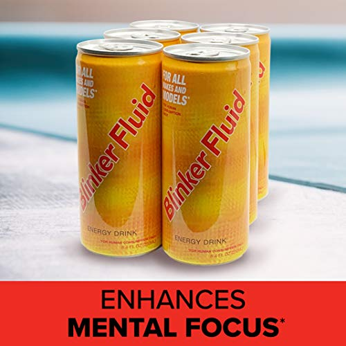 Blinker Fluid Energy Drink – Caffeine, Taurine, Vitamin B6, B12, Niacin – Sports Nutrition for Long Lasting Energy – (250 mL, 6 Pack)