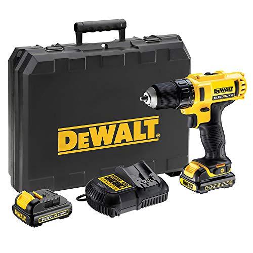 DeWalt DCD710C2-QW accu-boormachine 10,8 V/1,3 Ah, 10,8 V, zwart, geel