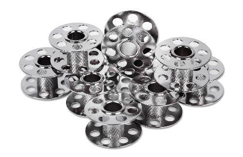 10 Spulen 12mm für BERNINA CB-Greifer Metallspulen