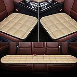 XKMY Interior Accessories - Cojín de felpa para asiento de coche, antideslizante, transpirable, lavable (color: morado, tamaño: juego)