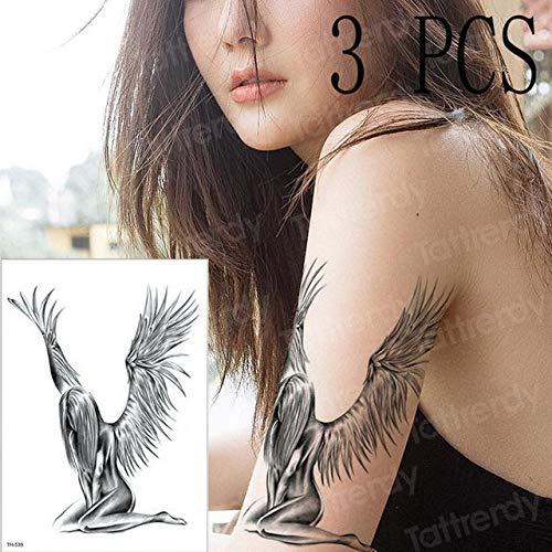 Handaxian 3pcs Aquarelle Montre Grecque Tatouage Hommes et Femmes 3pcs-24