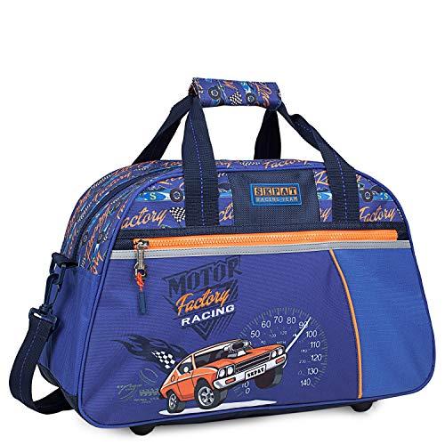 SKPAT - Kindersporttasche für Kinder. Gestempelt. Klebeband für Trolley. Schule, Ausflug, Turnhalle, Weite Öffnung. Gute Qualität, Design und Marke 130945, Color Blau