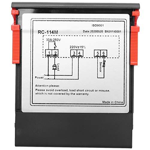 Ctzrzyt 220V / 30A Salida Del Relé Del Termostato Del Controlador de Temperatura Digital Rc-114M -30~300 Grados con el Sensor de Ntc