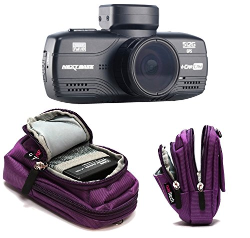 Navitech Purple Case Bag Compatible with The Xuanpad Dash Cam Full HD 1080P