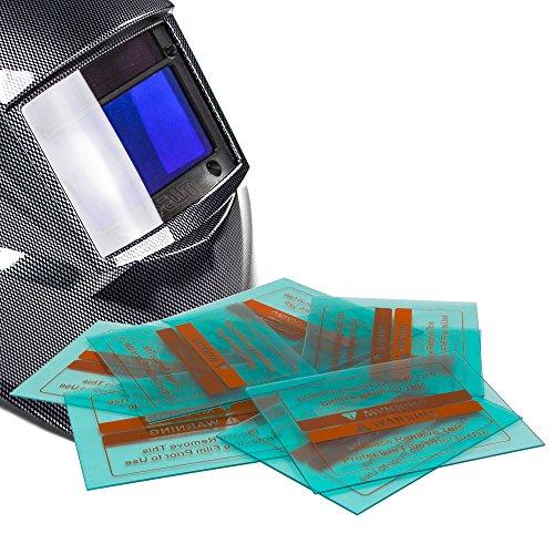 awm® WH02C Automatik Schweißhelm Ersatzgläser 10x Außen 123 mm x 98 mm Ersatzscheiben Vorsatzscheiben Schutzscheiben
