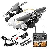 ANZQHUWAI New Drone 4K avec caméra WiFi Caméra HD 1080P Double Follow Me Quadcopter FPV Professional Drone Batterie Longue durée Toy Cadeau,Blanc