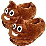 Emoji Peluche Pantofole, Inverno Cacca Slippers Fumetto Caldo Accogliente Morbido Emoticon Uomini Donne Casa Pantofole Scarpe Adulta EUR (35-41)
